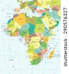 africa map   highly detailed... | Shutterstock .eps vector #290576327
