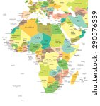 africa   map   illustration | Shutterstock .eps vector #290576339