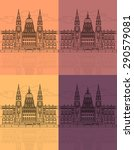 the hungarian parliament... | Shutterstock .eps vector #290579081