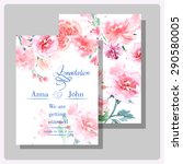 wedding invitation cards with... | Shutterstock .eps vector #290580005