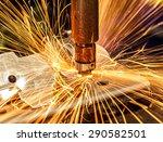 industrial welding automotive... | Shutterstock . vector #290582501