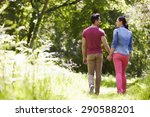 rear view of young couple... | Shutterstock . vector #290588201