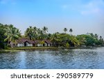 tropical indian village with... | Shutterstock . vector #290589779
