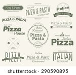 typographic pizza themed label... | Shutterstock .eps vector #290590895