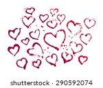 watercolor hand drawn hearts....