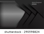 chrome black and grey... | Shutterstock .eps vector #290598824