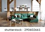 interior design   3d render of ... | Shutterstock . vector #290602661