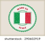 made in italy grunge rubber... | Shutterstock .eps vector #290602919