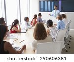 group of businesspeople meeting ... | Shutterstock . vector #290606381