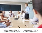 group of businesspeople meeting ...   Shutterstock . vector #290606387
