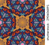 seamless pattern ethnic style.... | Shutterstock .eps vector #290606891