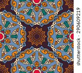 seamless pattern ethnic style.... | Shutterstock .eps vector #290609219