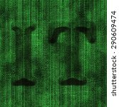 digital  binary code emblem  it ... | Shutterstock . vector #290609474