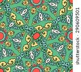 seamless pattern ethnic style.... | Shutterstock .eps vector #290609501