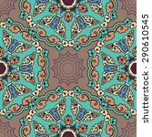seamless pattern ethnic style.... | Shutterstock .eps vector #290610545