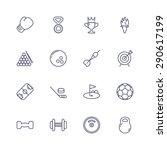 sport icons | Shutterstock .eps vector #290617199