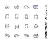 transport icons | Shutterstock .eps vector #290617211