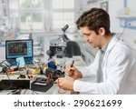 young energetic male tech or... | Shutterstock . vector #290621699