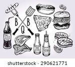 Bbq Party Foods Set. Poster...