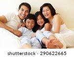 mixed race asian family | Shutterstock . vector #290622665