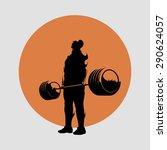 powerlifting deadlift barbell | Shutterstock . vector #290624057