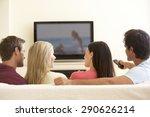 group of friends watching... | Shutterstock . vector #290626214