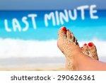 Legs On The Beach As Concept...