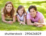 mother  father and daughter... | Shutterstock . vector #290626829