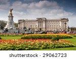 Buckingham Palace With Crowed...