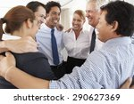 group of businesspeople bonding ... | Shutterstock . vector #290627369