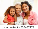mother daughter and... | Shutterstock . vector #290627477