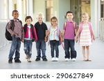 group of elementary age... | Shutterstock . vector #290627849