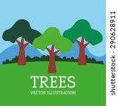 tree design over landscape... | Shutterstock .eps vector #290628911