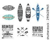 surfing vector emblem set with... | Shutterstock .eps vector #290628965