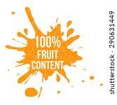 one hundred percent fruit... | Shutterstock .eps vector #290631449