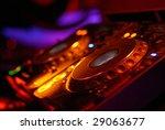 Dj Mixer In A Music Club