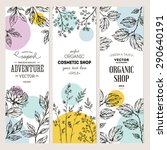 botanical banner collection.... | Shutterstock .eps vector #290640191