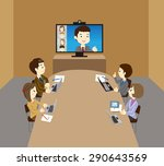 business team  web conference | Shutterstock .eps vector #290643569