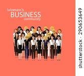 flat  illustration of women...   Shutterstock . vector #290653649