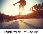 skateboarder legs doing a trick ... | Shutterstock . vector #290656409