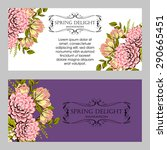 spring delight collection.... | Shutterstock .eps vector #290665451