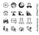 earthquake and geology icon set.... | Shutterstock .eps vector #290667761