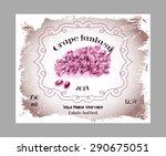 vintage fruit alcohol labels.... | Shutterstock .eps vector #290675051