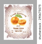 vintage fruit alcohol labels.... | Shutterstock .eps vector #290675075