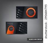 business card template set 029... | Shutterstock .eps vector #290684795