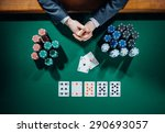 poker player's hands with cards ... | Shutterstock . vector #290693057