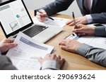 business professionals working... | Shutterstock . vector #290693624
