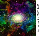 abstract colorful universe....   Shutterstock . vector #290694689