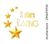 five star rating | Shutterstock .eps vector #290695934