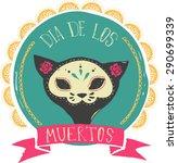 Print   Mexican Sugar Cat Skul...